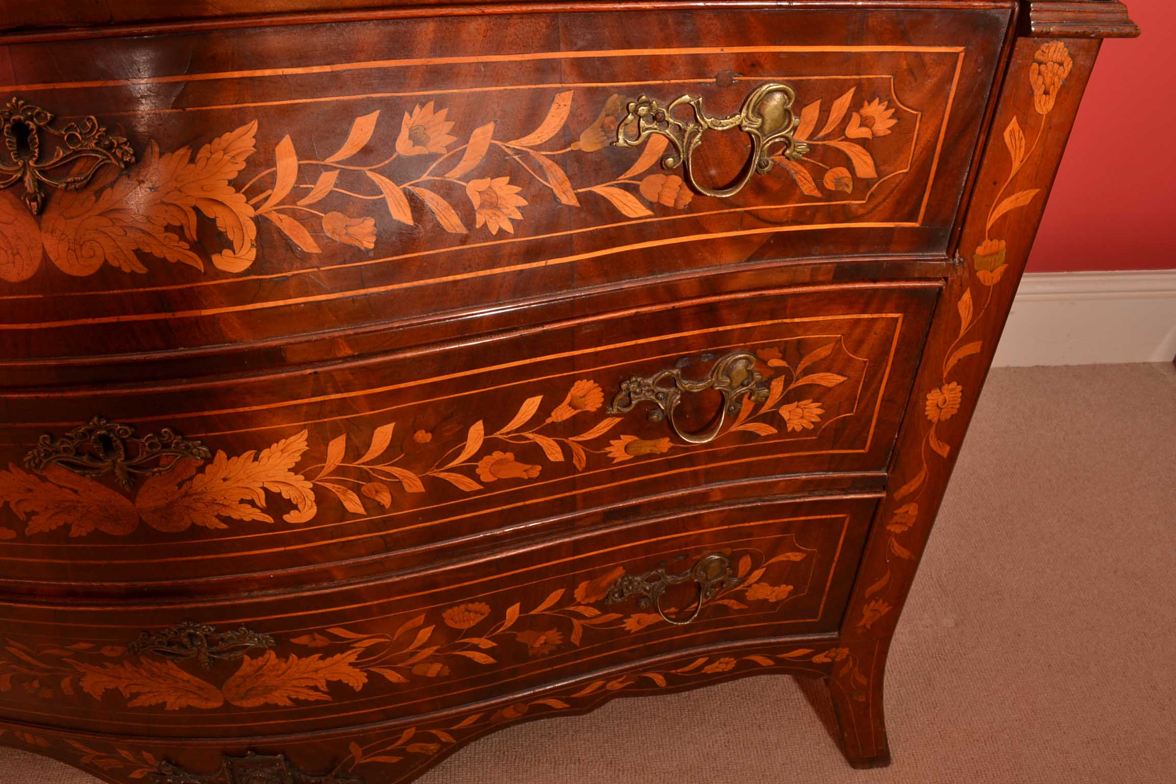 Regent antiques bureaus and secretaire chests antique dutch marquetry cyl - Bureau secretaire vintage ...