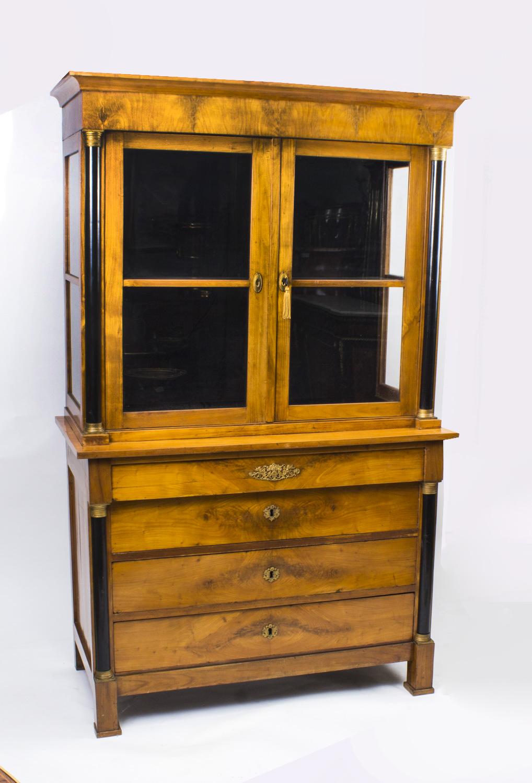 Antique Biedermeier Empire Viennese Cabinet c.1810