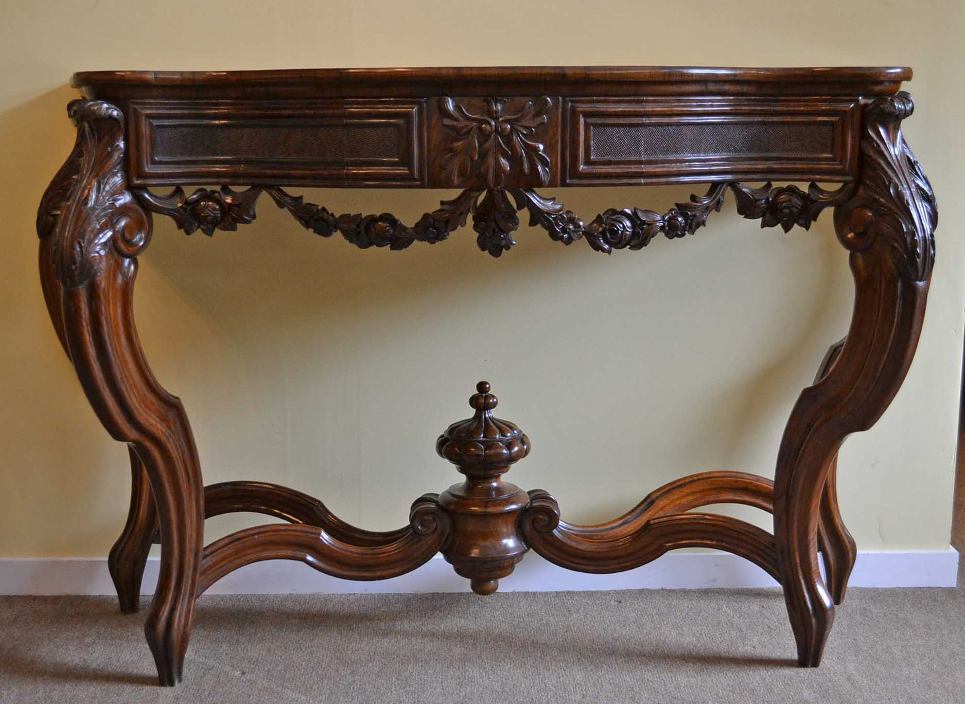 Antique French Walnut Console Table C1840 Ref No 03774