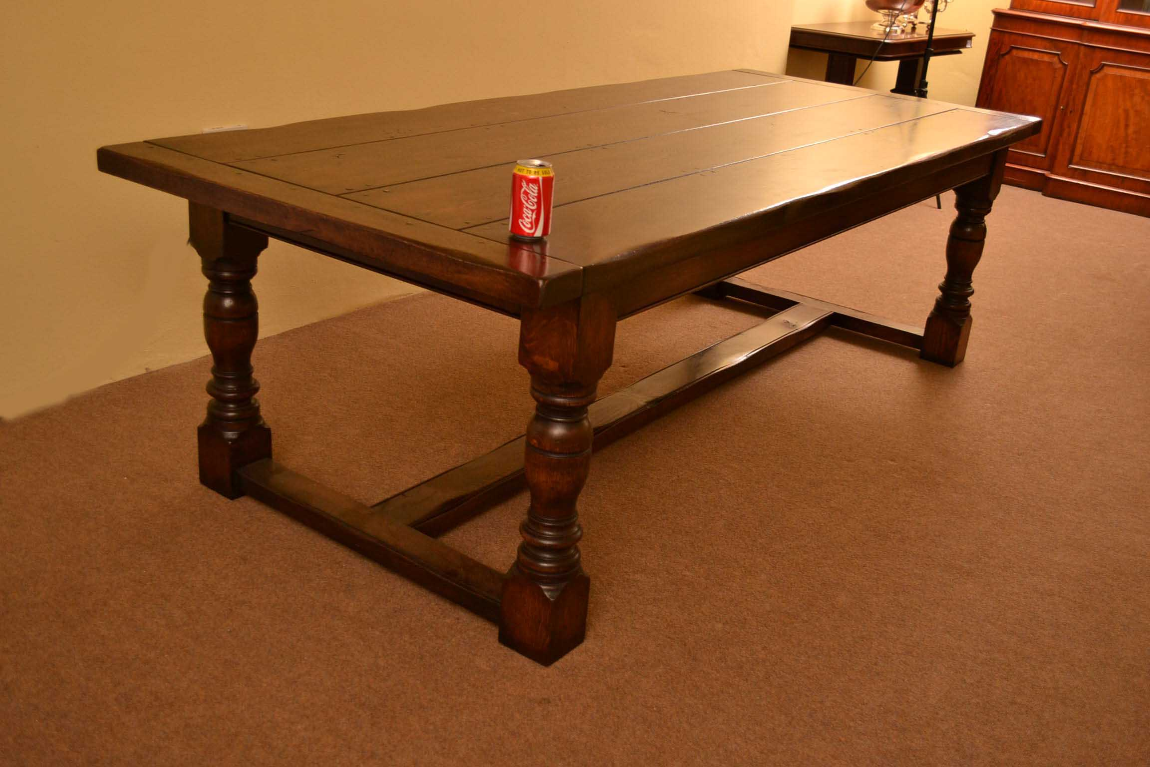 Tables English Solid Oak Refectory Dining Table 8 Ft 6x3 Ft 6. Full resolution  portraiture, nominally Width 2304 Height 1536 pixels, portraiture with #BA3C0B.