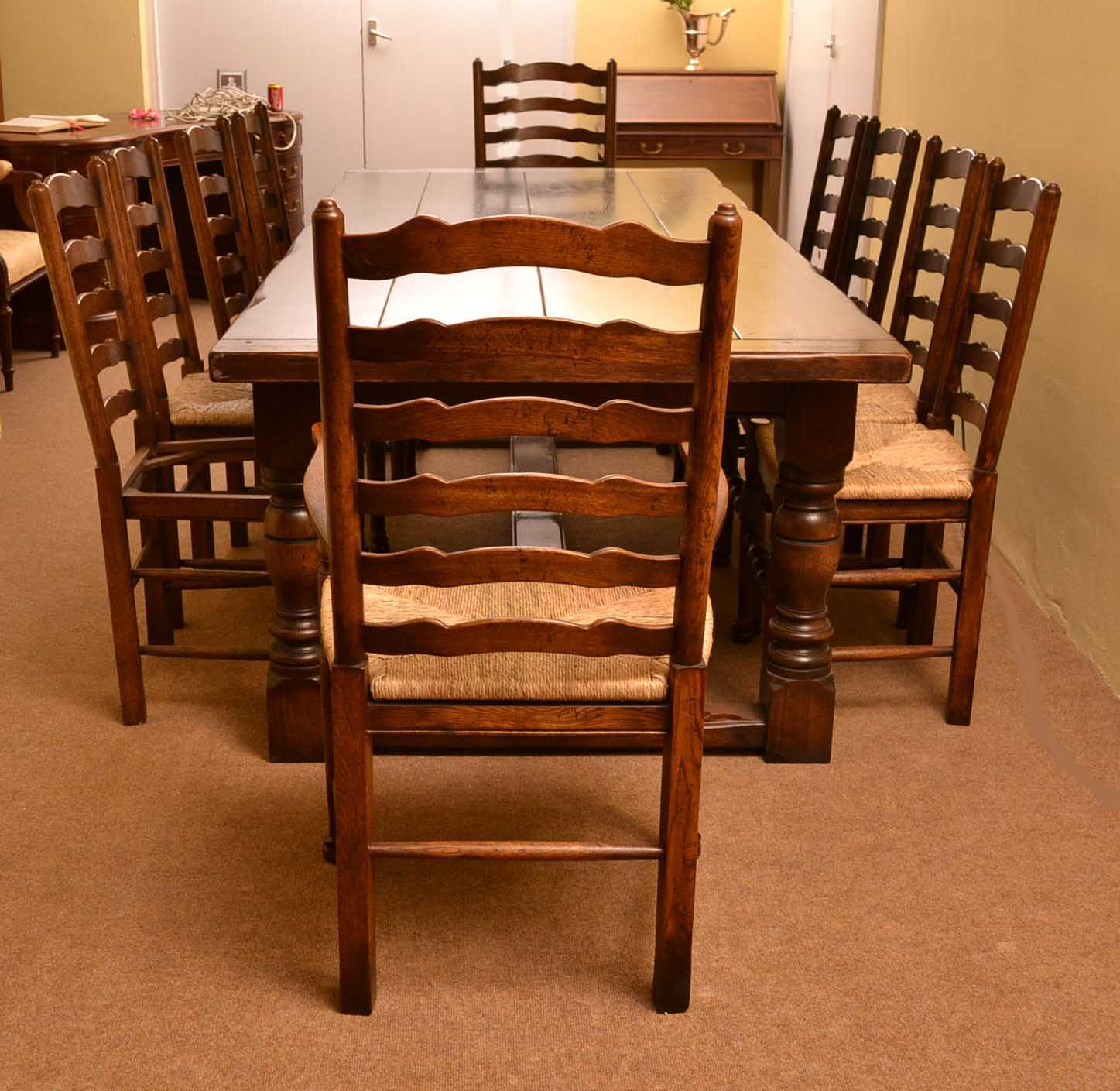 regent antiques dining tables and chairs table and chair sets bespoke solid oak refectory. Black Bedroom Furniture Sets. Home Design Ideas