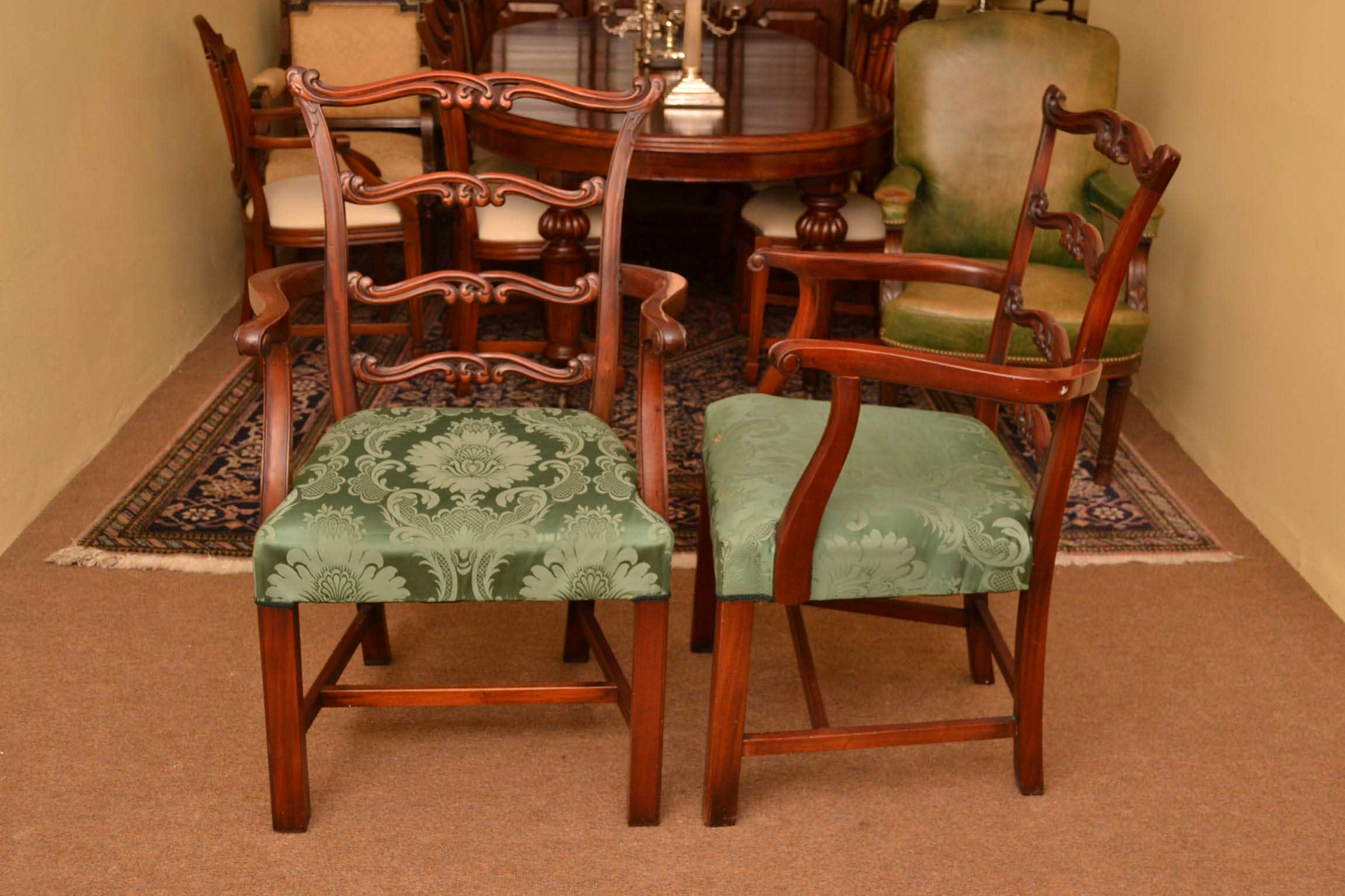 Chairs Dining 10 Vintage Chippendale Ladderback