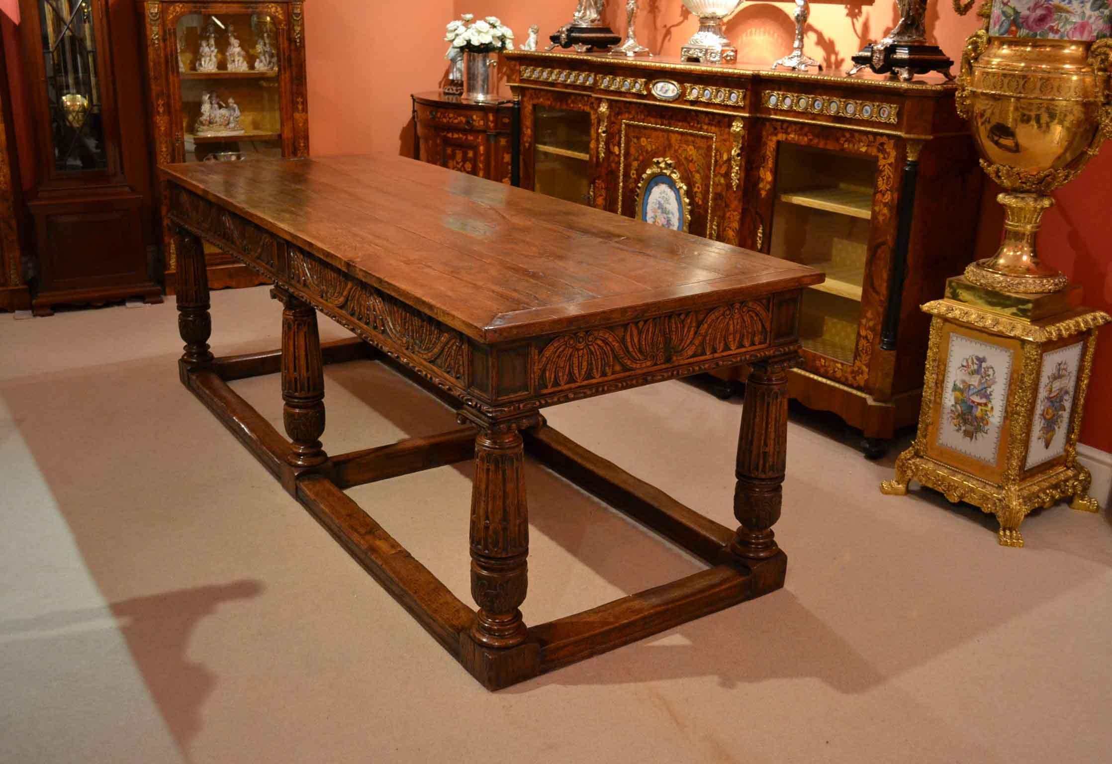 antique english oak refectory dining table xix c ref no. Black Bedroom Furniture Sets. Home Design Ideas