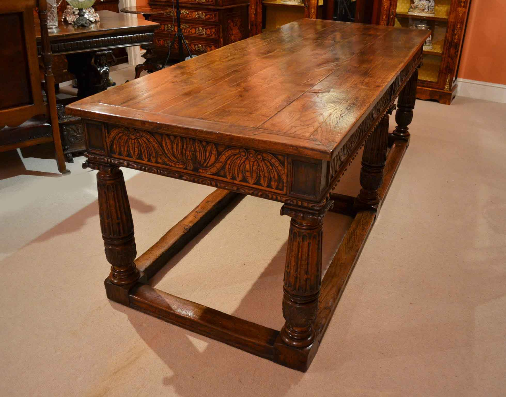 regent antiques dining tables and chairs tables antique oak refectory dining table 8 chairs. Black Bedroom Furniture Sets. Home Design Ideas