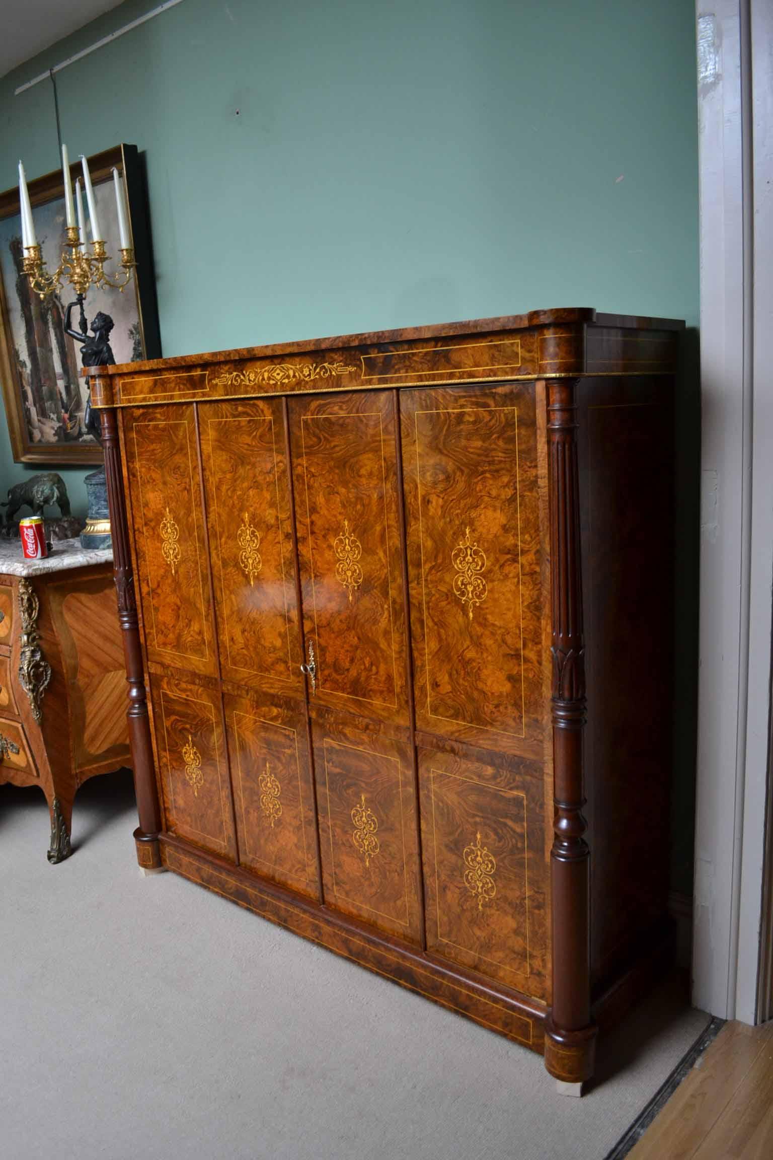 Regent Antiques Cabinets Inlaid Burr Walnut Tv Plasma