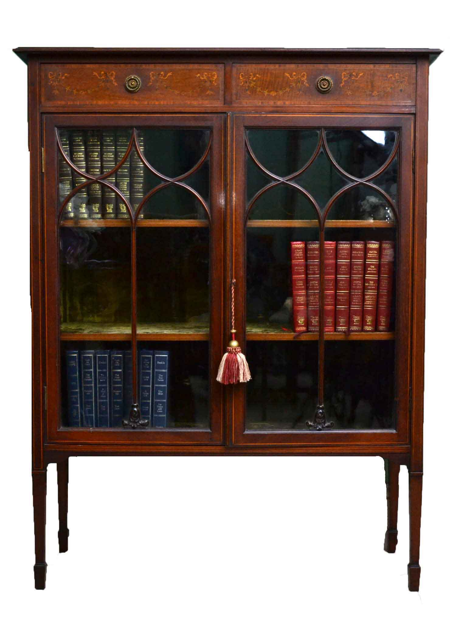 Regent antiques cabinets antique edwardian mahogany for Antique display cabinet