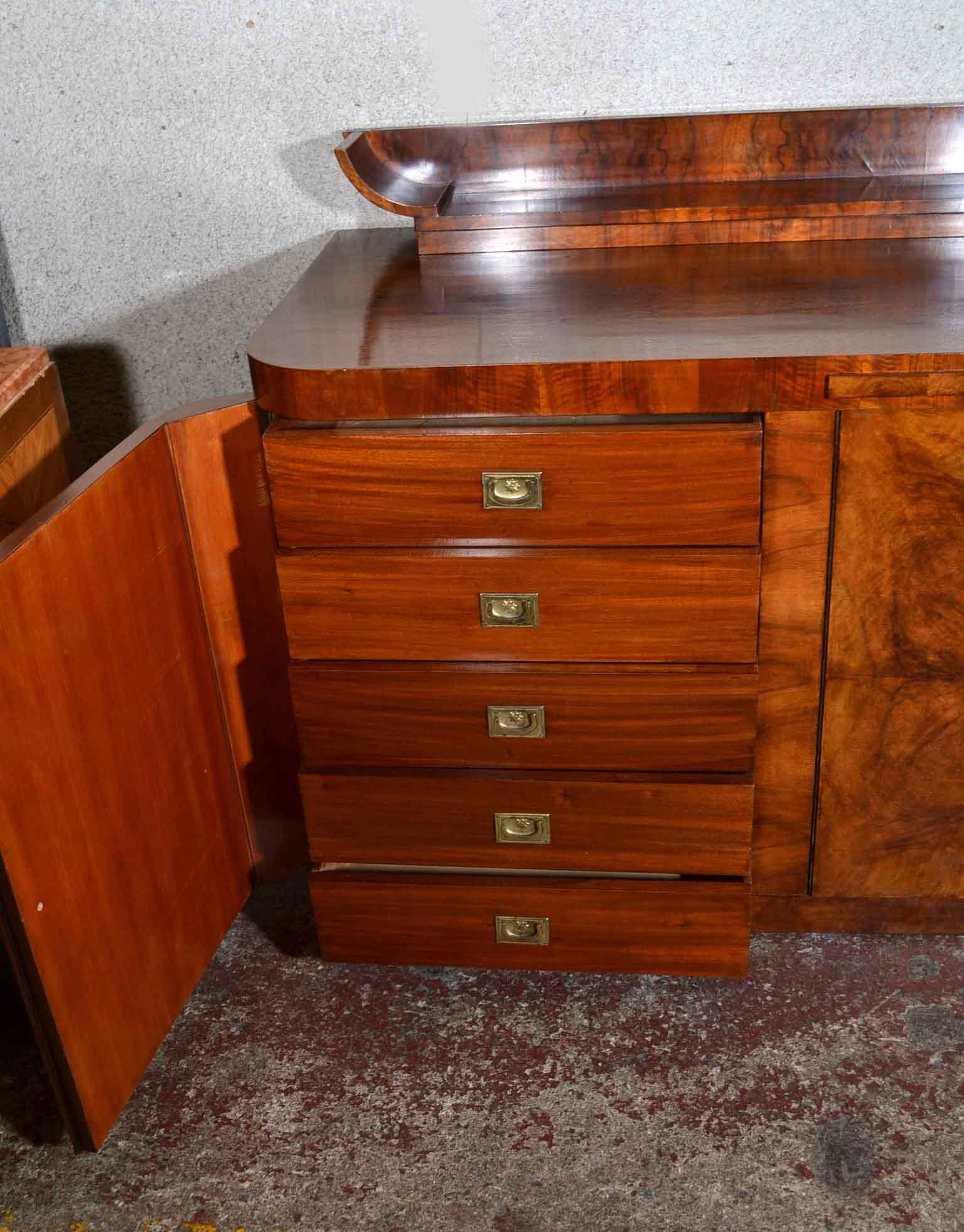 regent antiques sideboards antique art deco burr walnut sideboard 7ft c1930. Black Bedroom Furniture Sets. Home Design Ideas