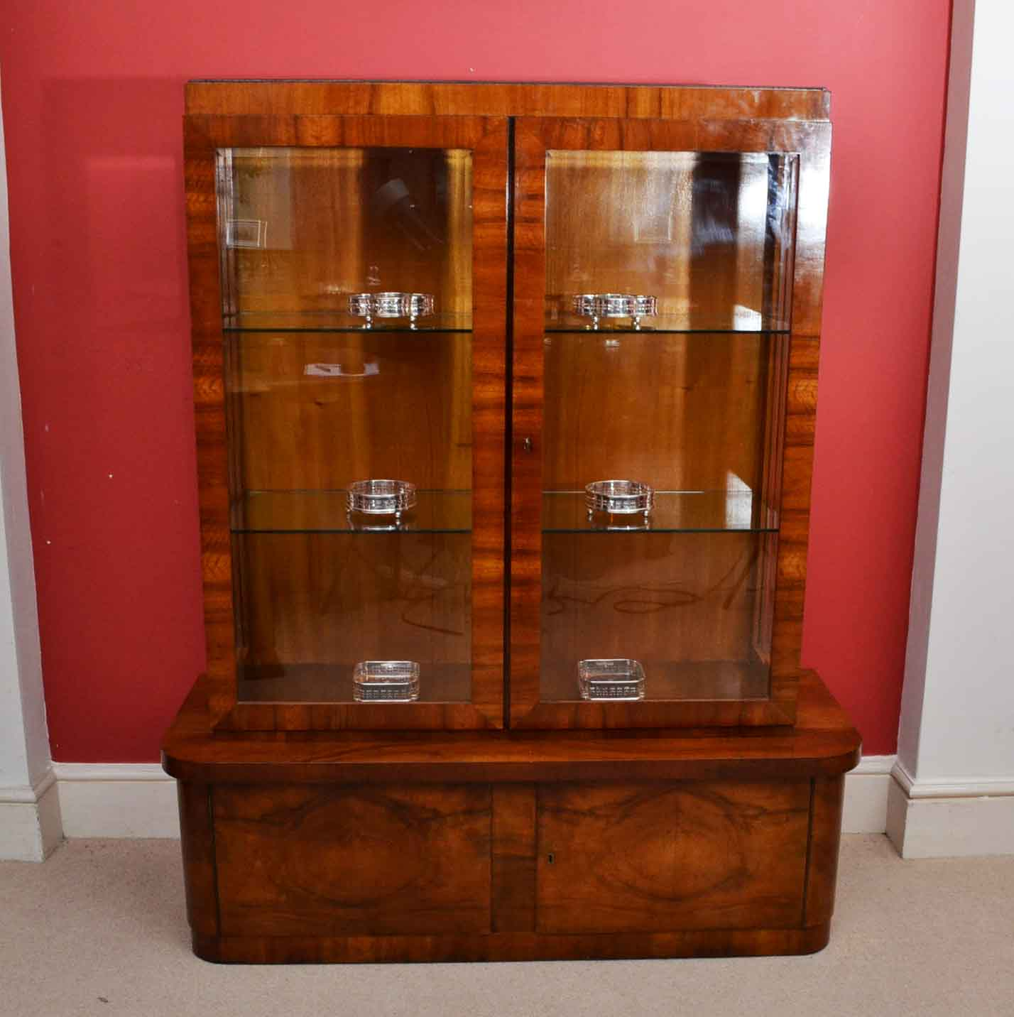 Regent Antiques Display Cabinets Antique Art Deco Burr