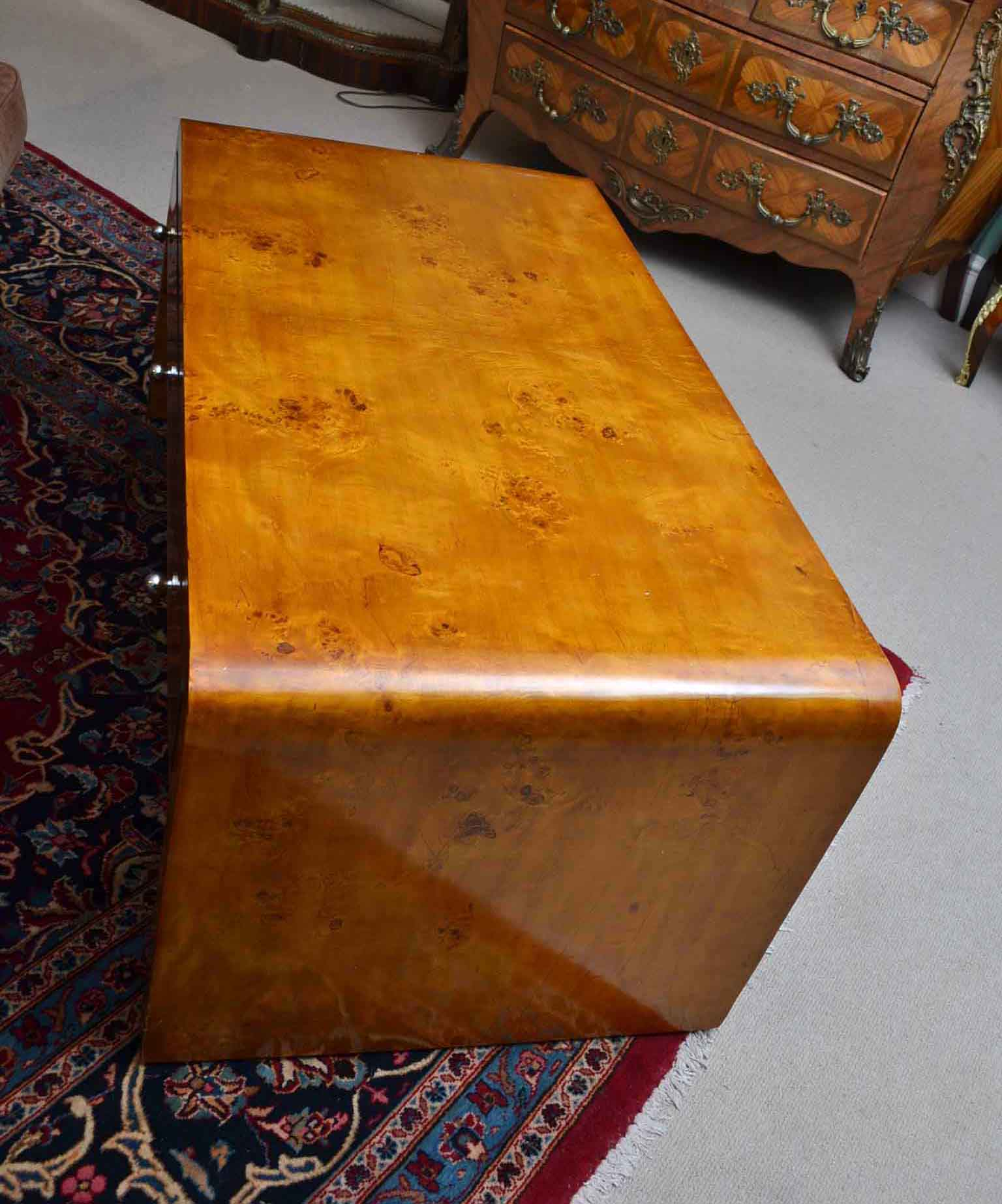 Vintage Maple Coffee Table: Elegant Art Deco Style