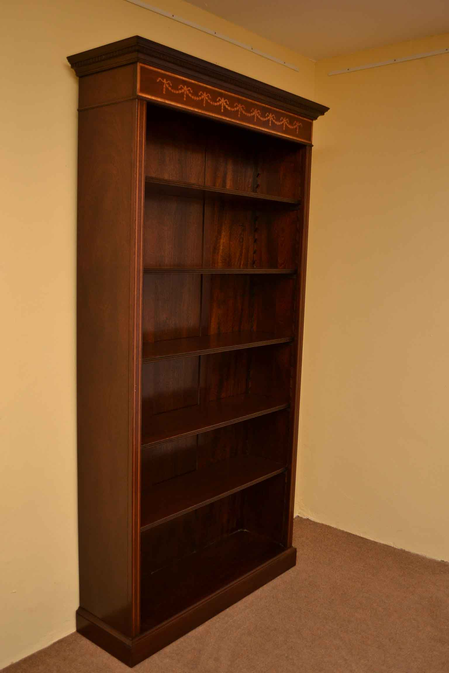 Regent Antiques Bookcases Sheraton Open Bookcase With