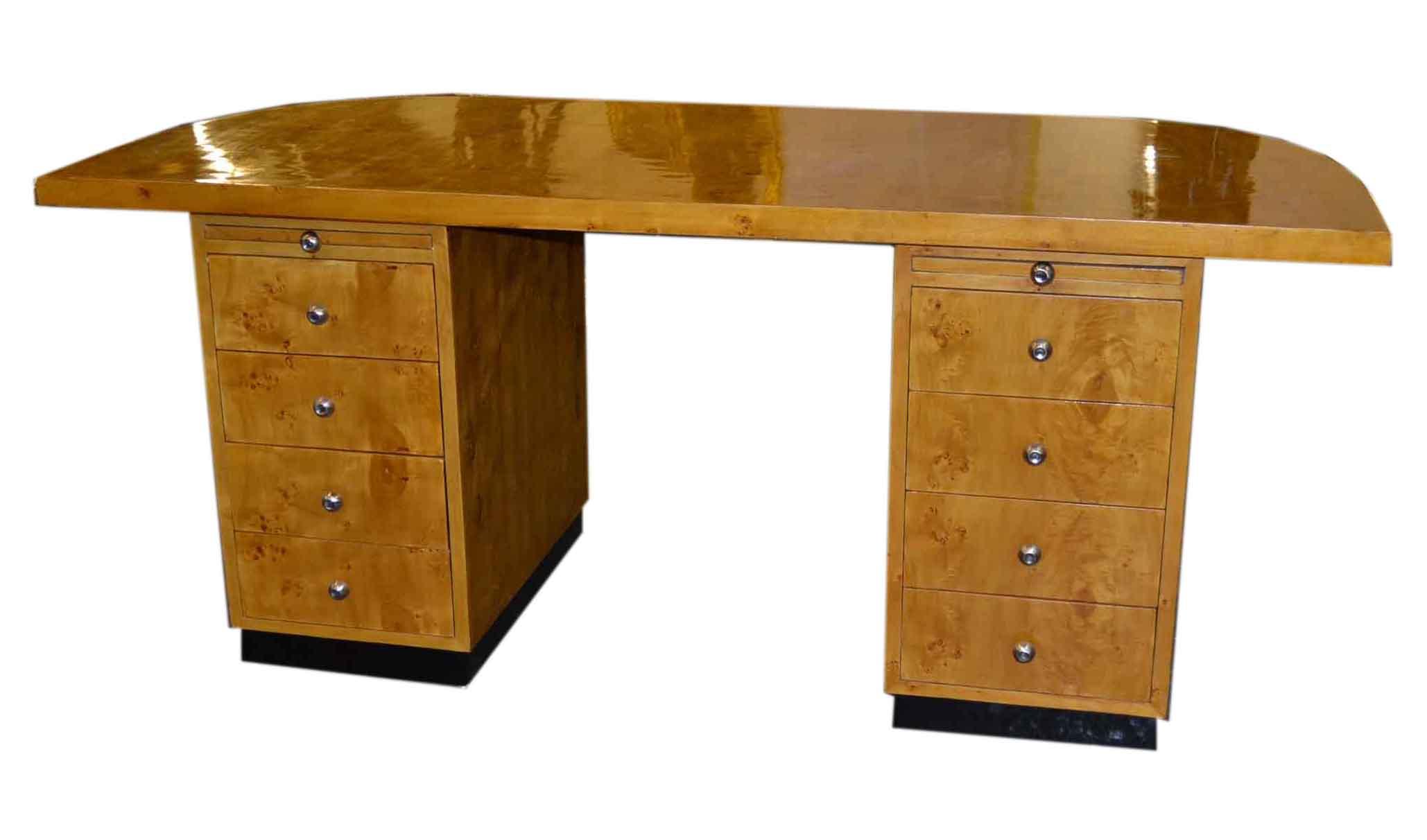 lovely art deco birdseye maple desk writing table -