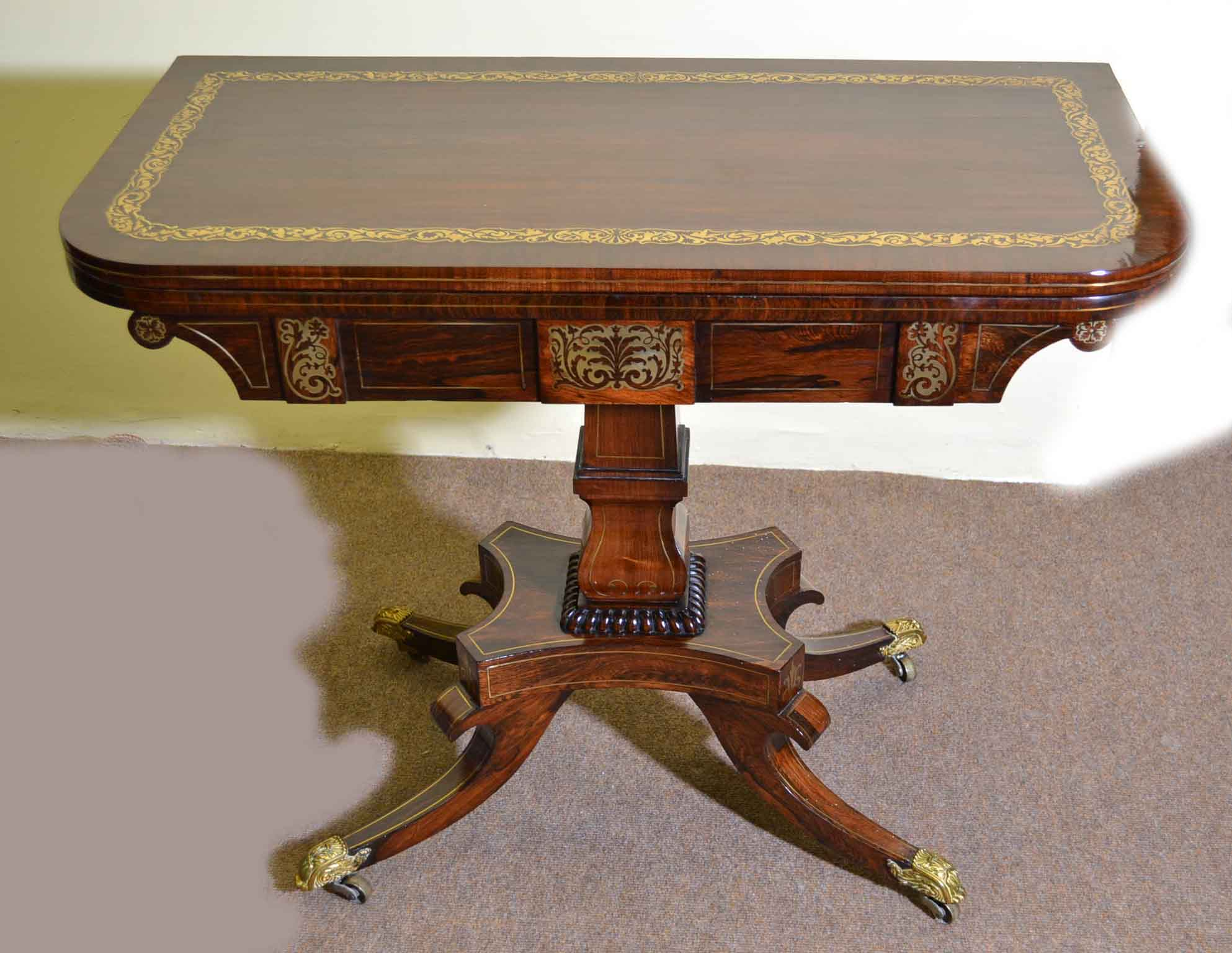 Antique card table regency card table inlaid card table antique - Antique Card Table Regency Card Table Inlaid Card Table Antique 1