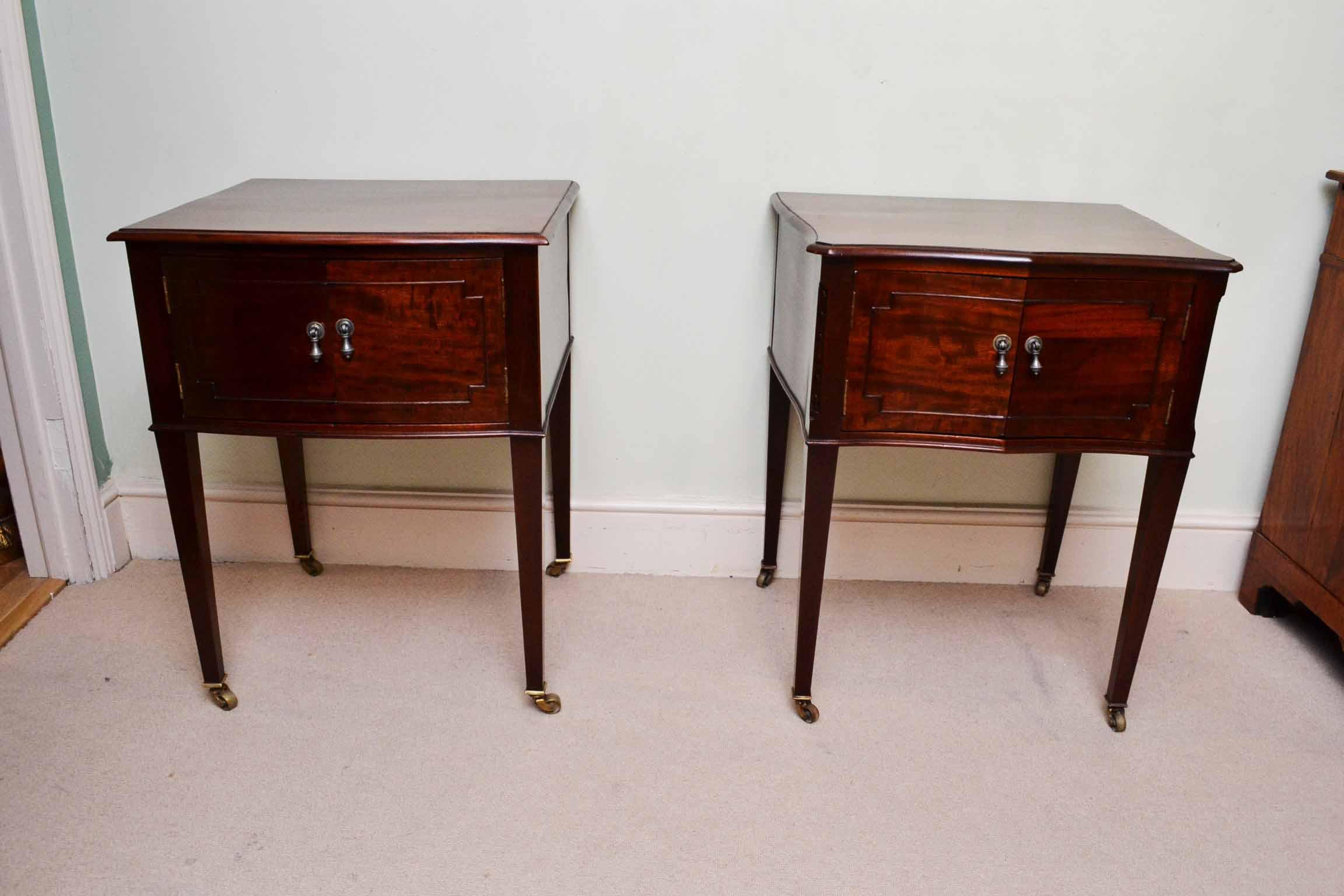 Antique Pair Of Edwardian Bedside Cabinets C 1910
