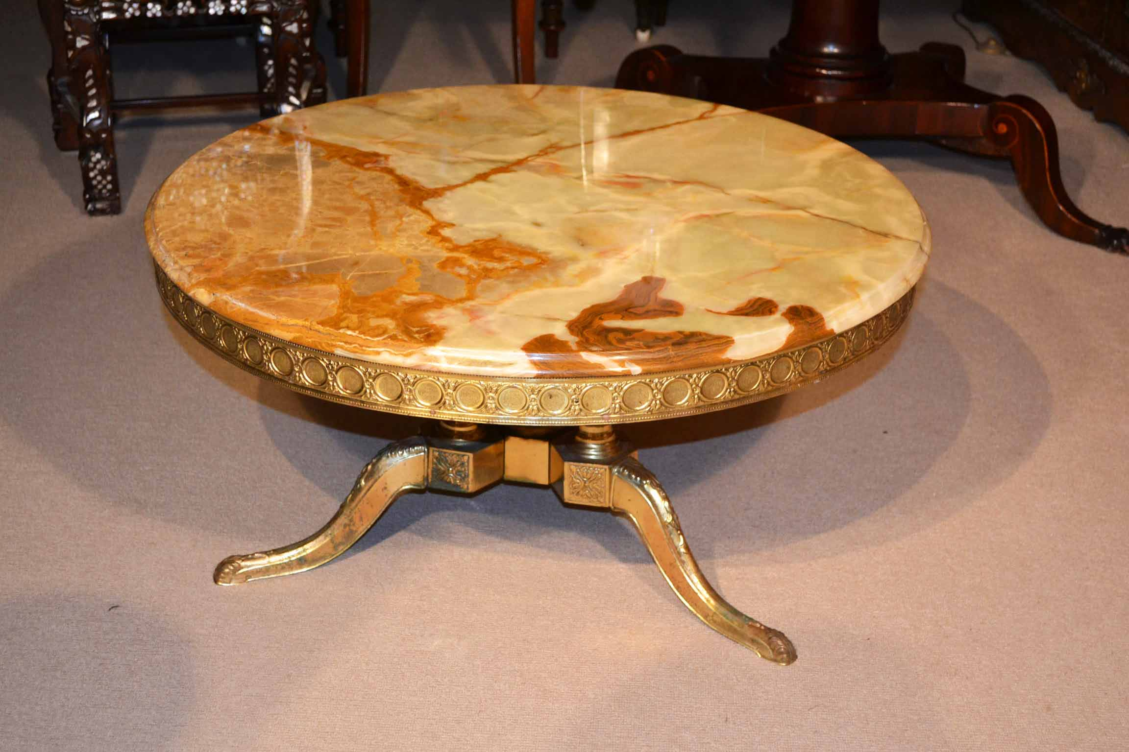 vintage french ormolu onyx coffee table. Black Bedroom Furniture Sets. Home Design Ideas