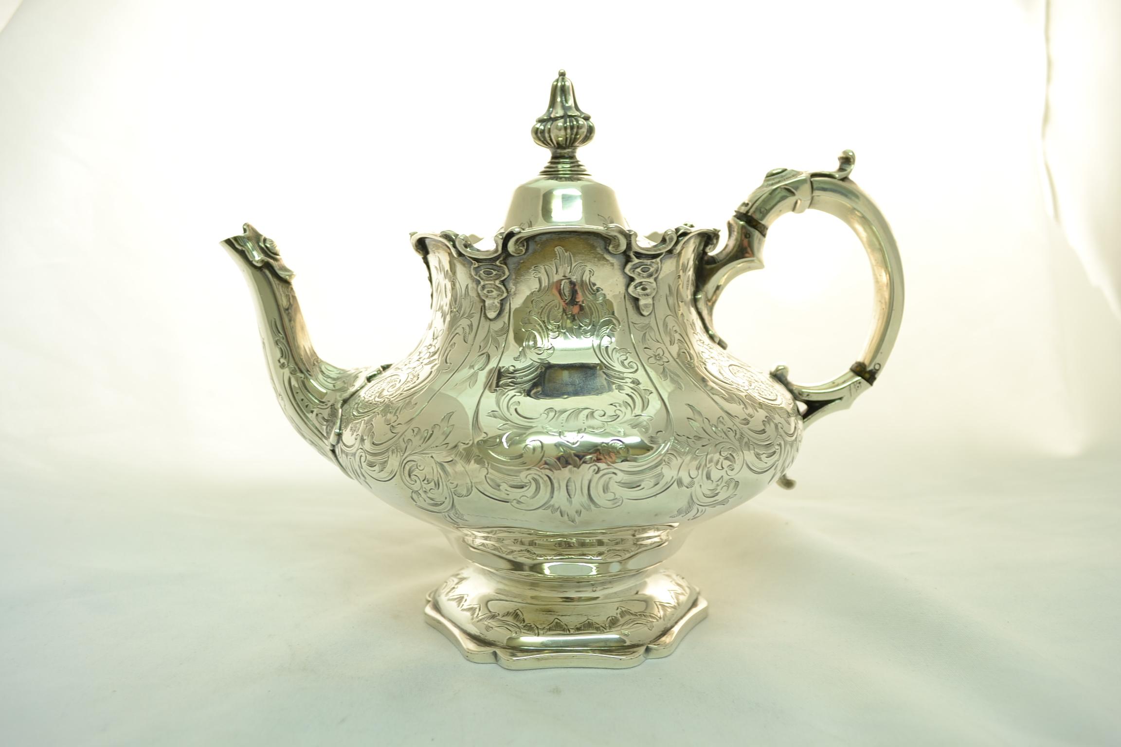 Regent Antiques Antique Silver Teapot London 1851