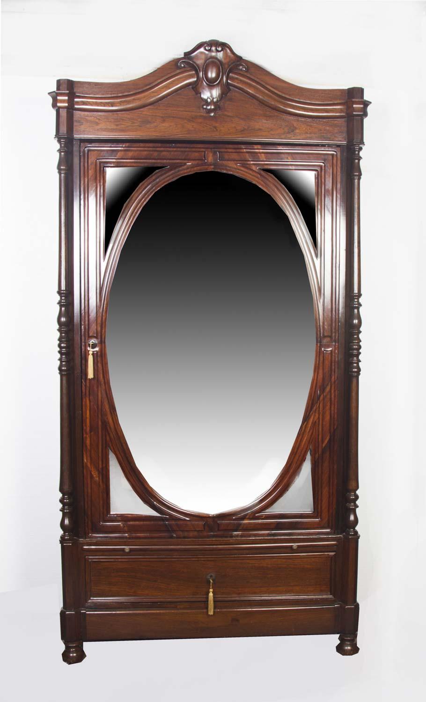 Antique Biedermeier Rosewood Armoire Bookcase C 1830
