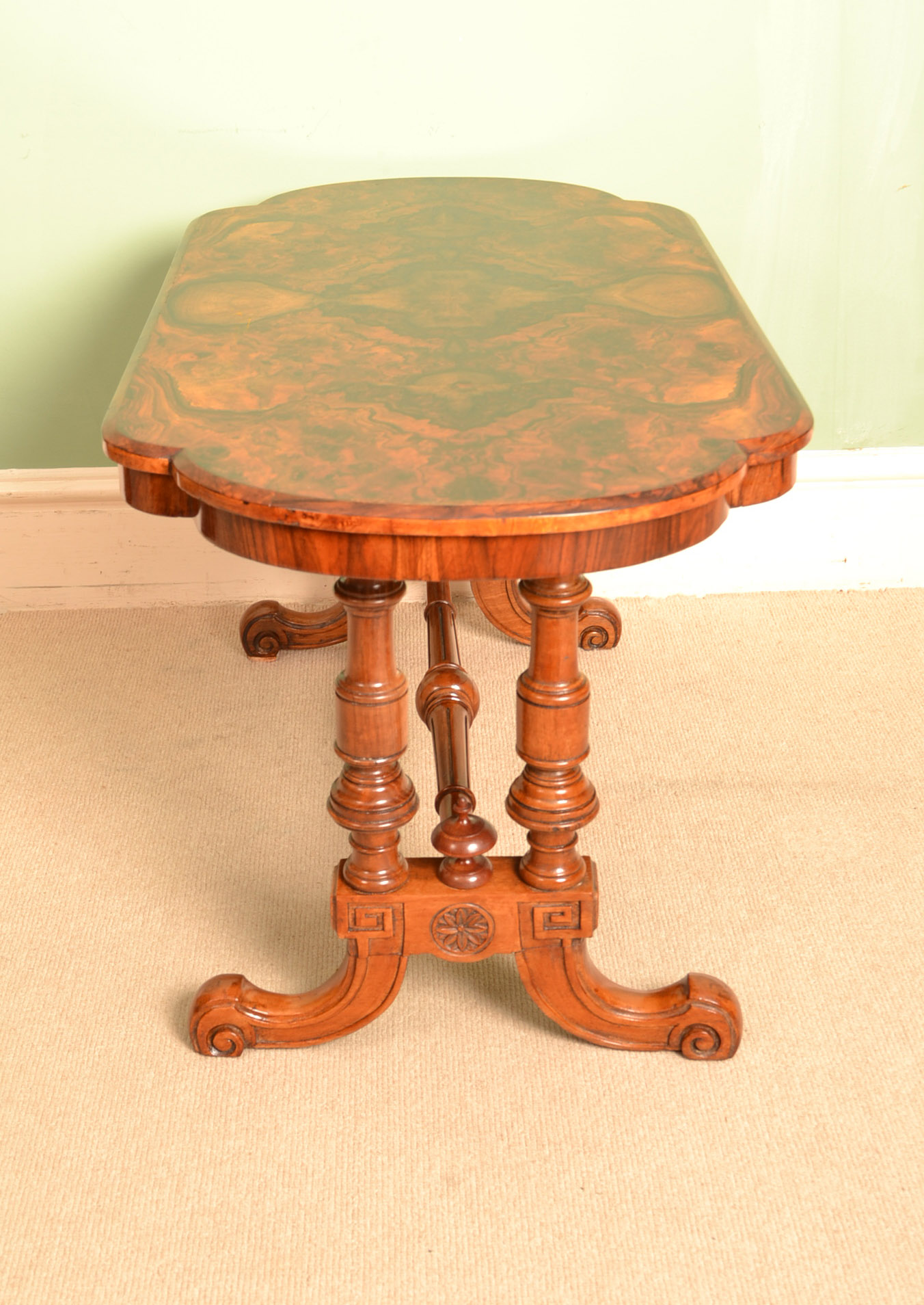Regent Antiques Coffee Tables Antique Victorian Cabriole Burr Walnut Coffee Table