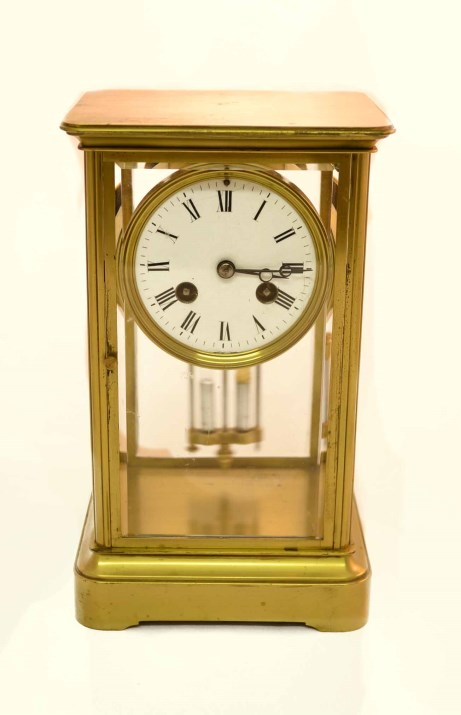 Regent Antiques Clocks Antique French Brass 4 Glass