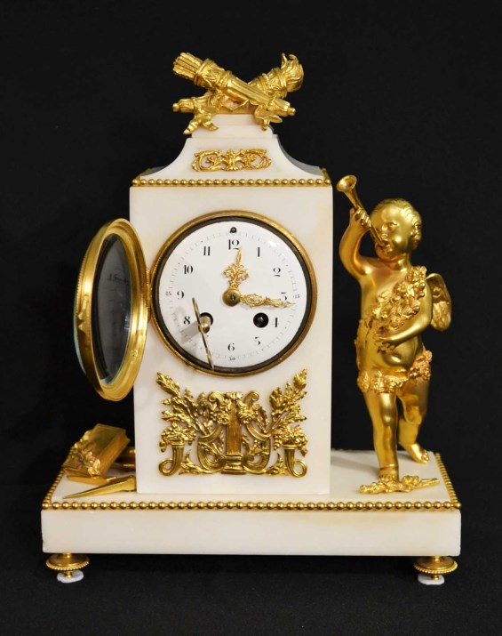 Regent Antiques Clocks Antique French White Marble