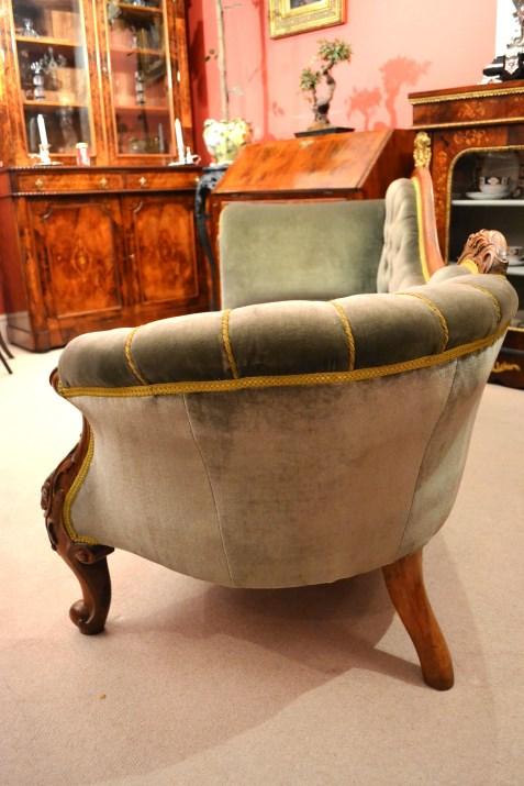 Regent antiques sofas and stools antique victorian for Antique victorian chaise longue