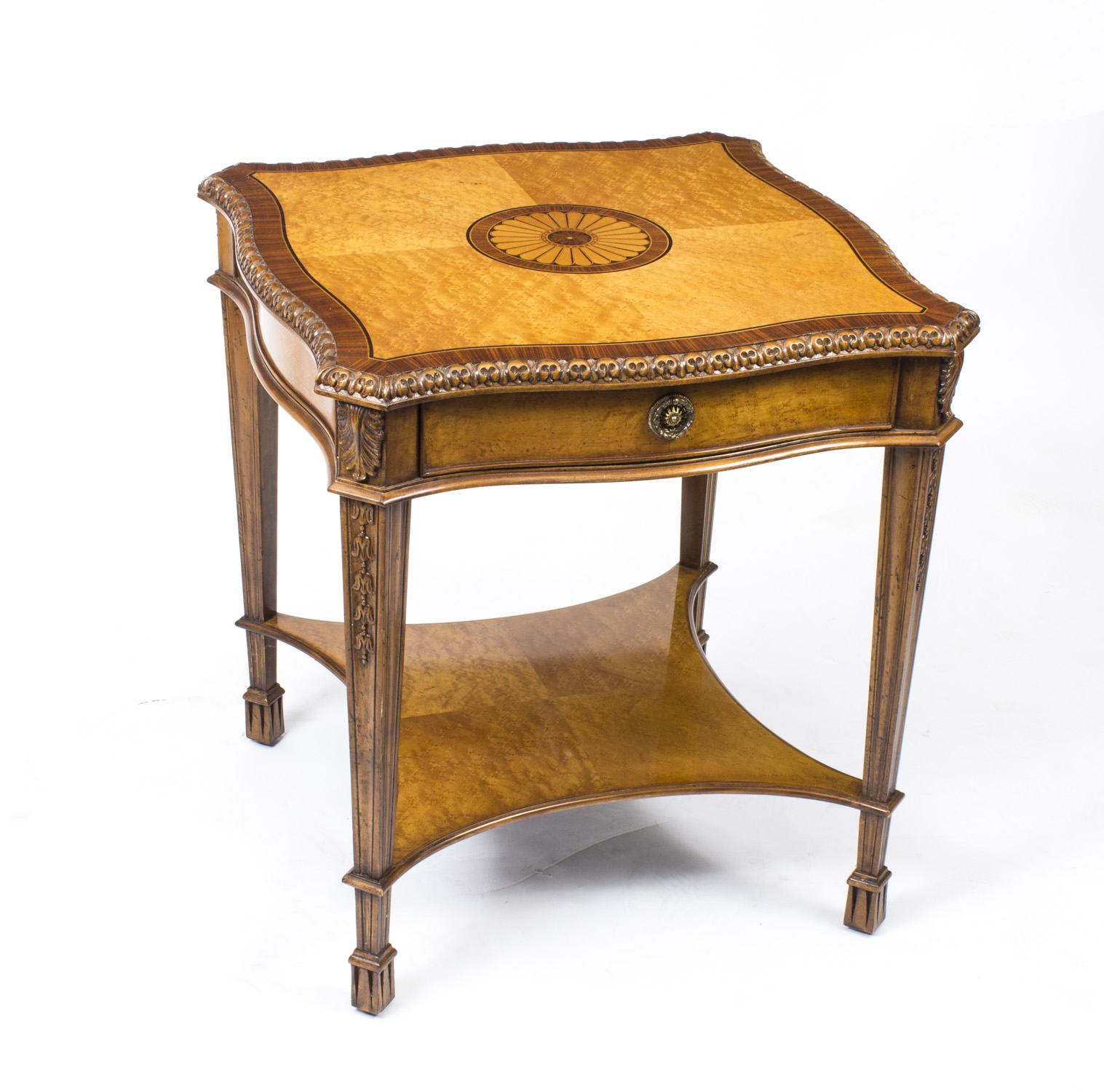 Regent antiques coffee tables stunning birdseye maple for Side coffee table