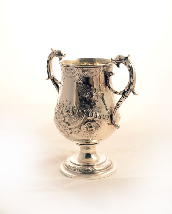 Regent Antiques Silver and silver plate Sterling  : 05124 Antique English Victorian Silver Cup 1858 Elkington 2 from regentantiques.com size 576 x 715 jpeg 43kB
