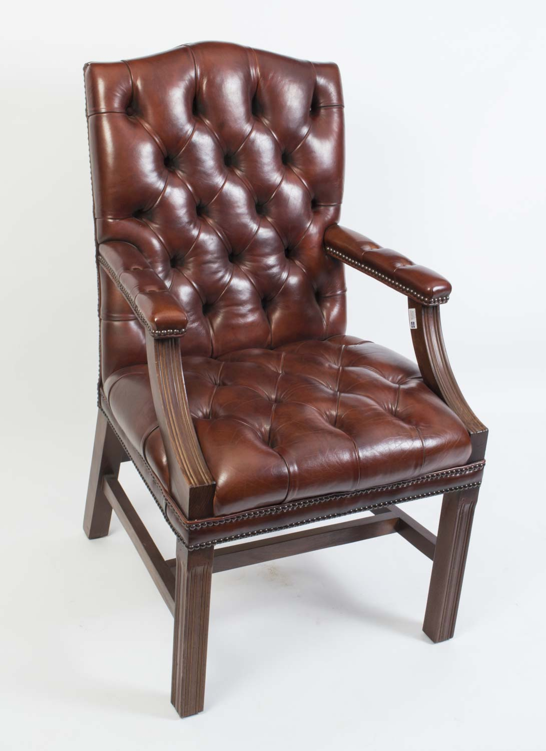 leather desk chairs handmade gainsborough leather desk chair ref no 134