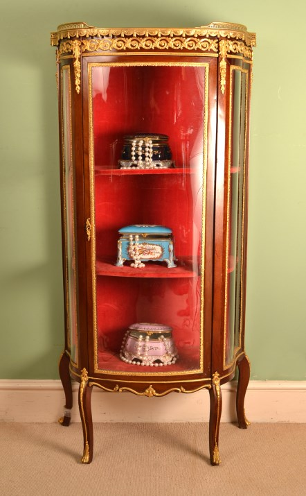 Antique French Empire Gany Display Cabinet C 1860 - Antique French Display Cabinet - Seeshiningstars