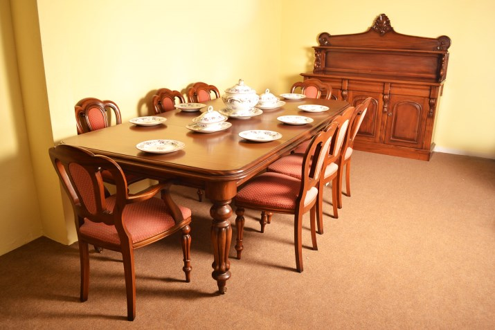Victorian Dining Room Suite Table 8 Chairs Sideboard