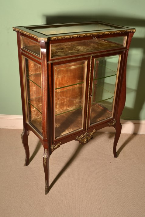 - Antique Mahogany Vitrine/Display Cabinet C.1900