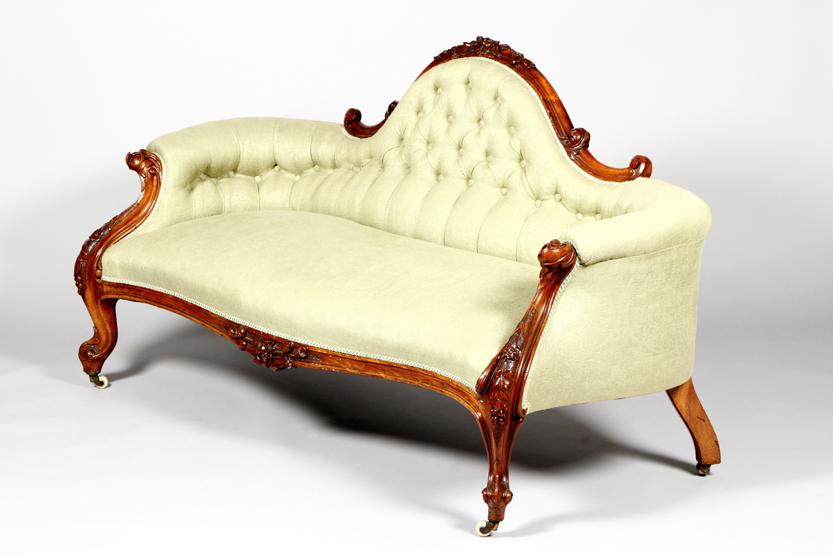 Regent Antiques Sofas and stools Antique Victorian  : 05398 Antique Victorian Walnut Sofa Chaise Settee c1870 1 from regentantiques.com size 833 x 555 jpeg 294kB