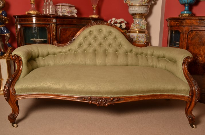 Regent antiques sofas and stools antique victorian for Antique victorian chaise lounge
