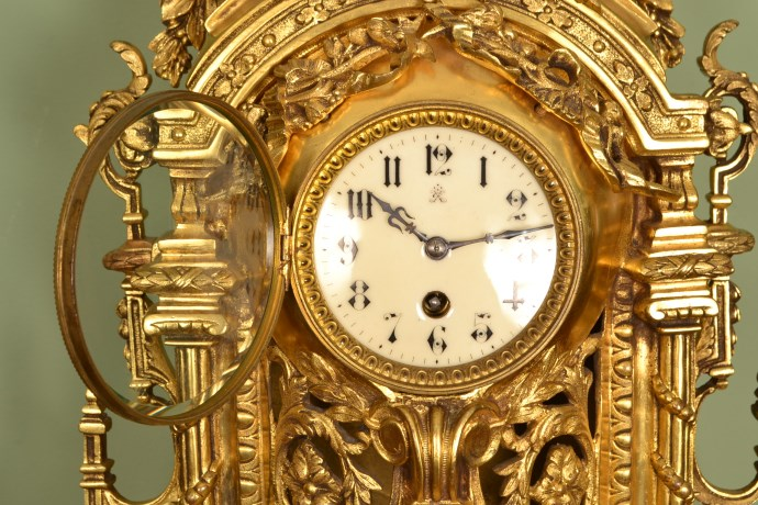 Regent Antiques Clocks Antique French Gilt Bronze