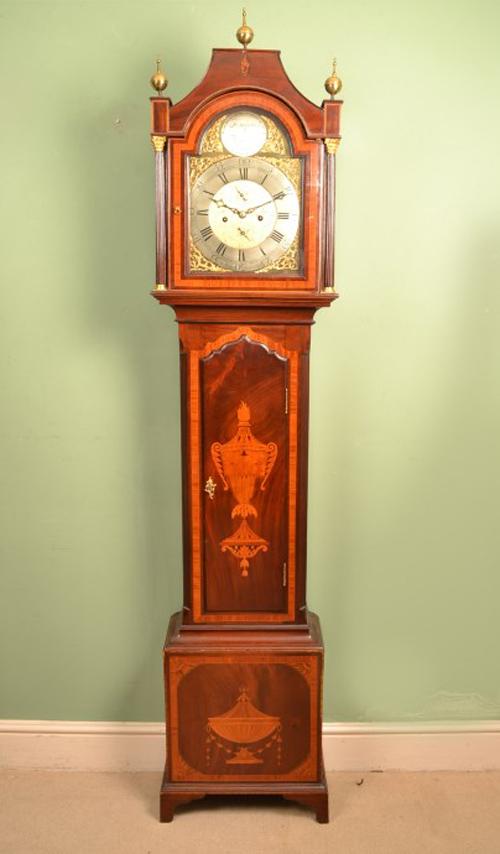 Regent Antiques Clocks Antique Grandfather Clock W  : 05524 Antique Grandfather Clock W North Leckonfield c1780 1 from regentantiques.com size 500 x 854 jpeg 124kB