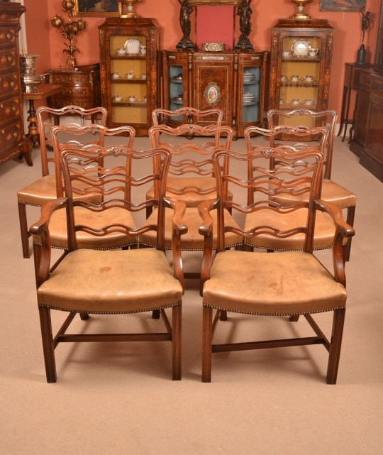 Antique Chippendale Dining Room Furniture: Dining Tables And Chairs