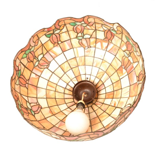 Regent Antiques Lights Vintage Tiffany Style Leaded