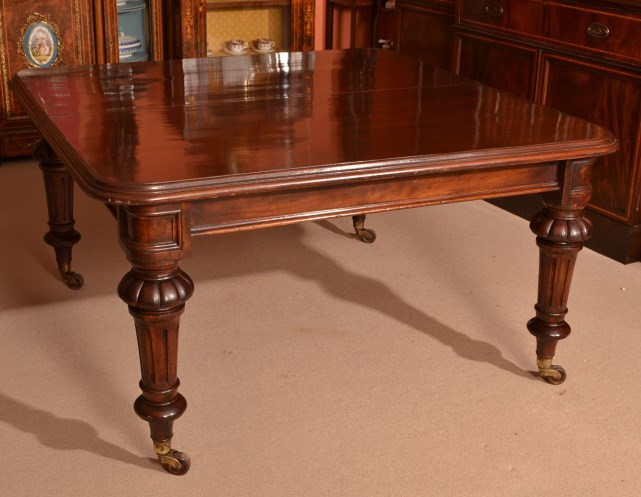 Antique 12ft victorian mahogany dining table ref for 12 ft table