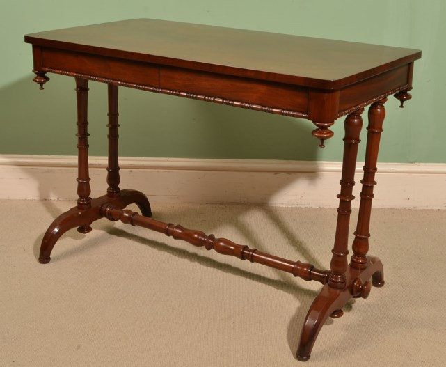 Antique victorian flame mahogany sofa table ref for Sofa table victorian