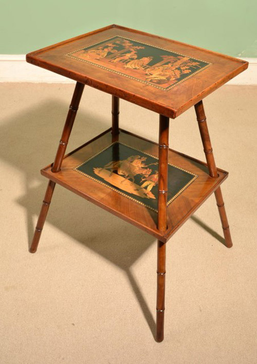 Side tables antique sorrento olive wood marquetry side table c 1880