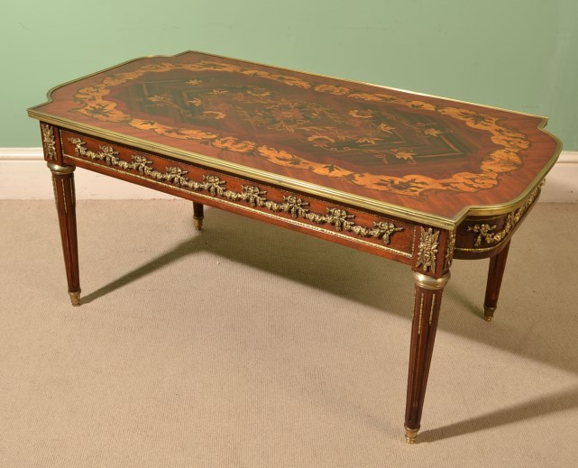 Fine French Walnut Marquetry Coffee Table Ref No 05674