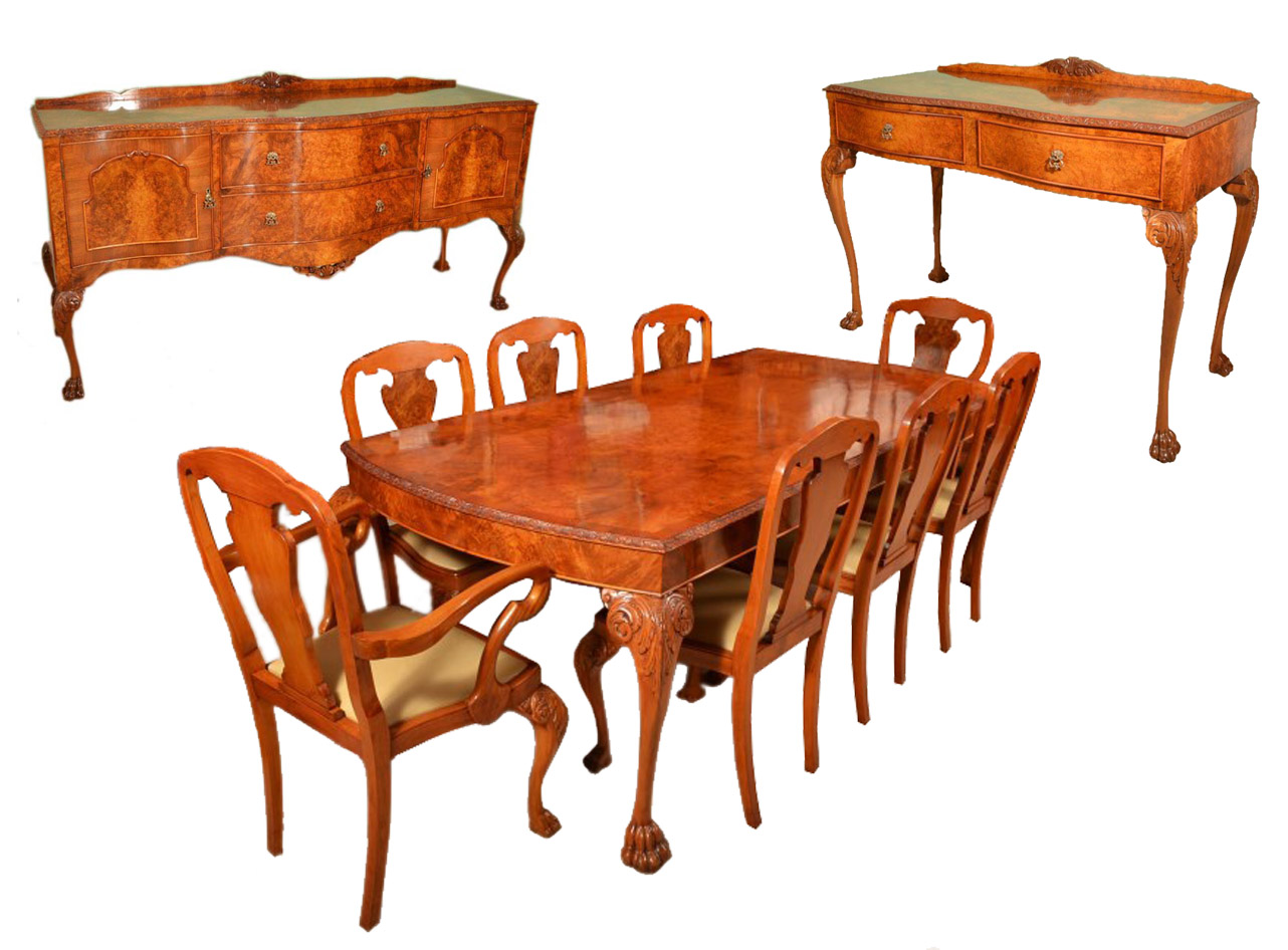 05686 Vintage Dining Suite Dining Table 8 Chairs 2 Sideboards 1