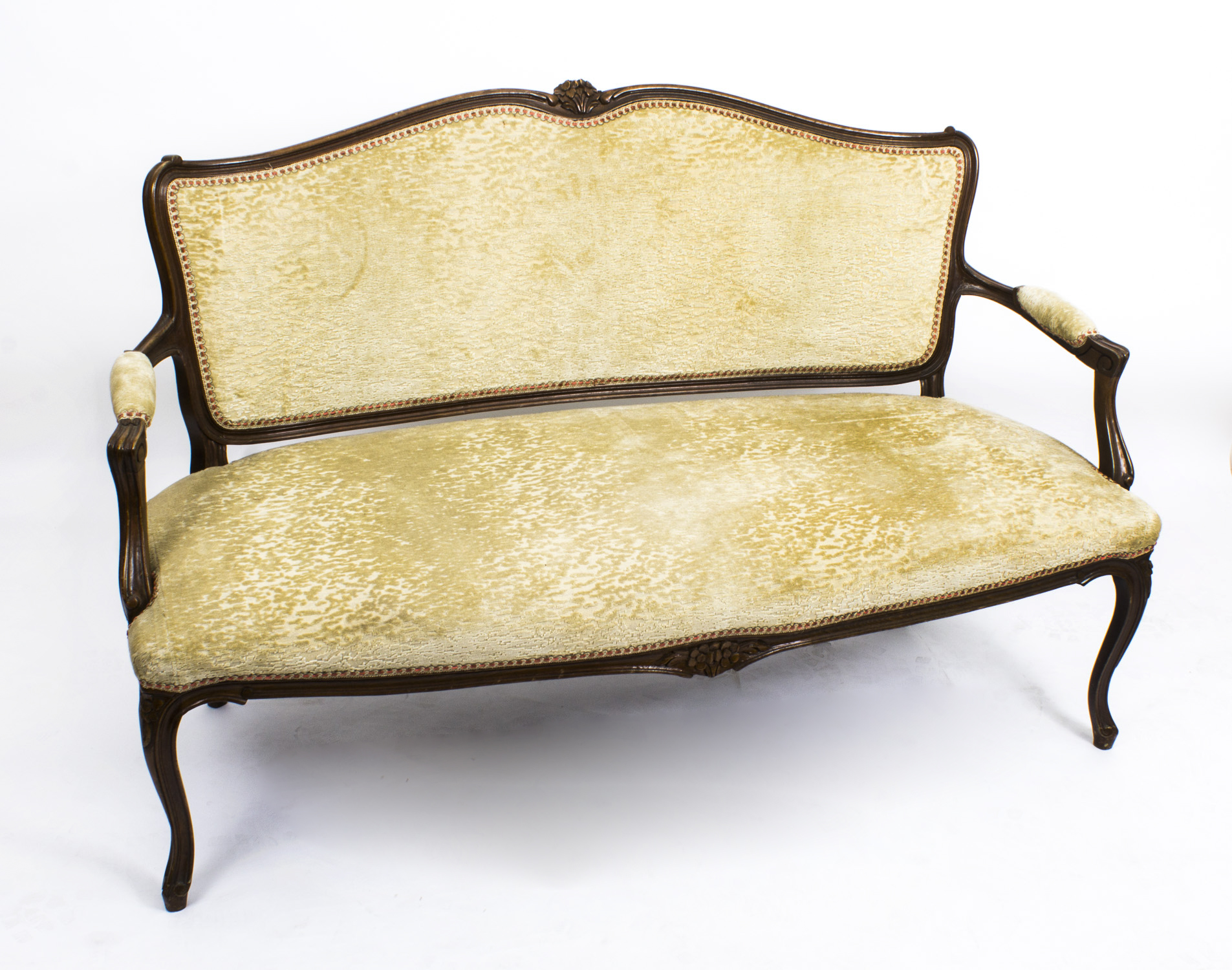 Antique French Walnut Sofa Settee
