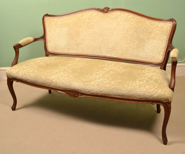 Regent Antiques Sofas and stools Antique French Walnut  : 05734 Antique French Walnut Sofa Chaise Settee c1900 13 from www.regentantiques.com size 641 x 536 jpeg 74kB