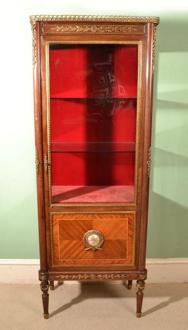 vintage louis xvi revival display cabinet vitrine ref. Black Bedroom Furniture Sets. Home Design Ideas