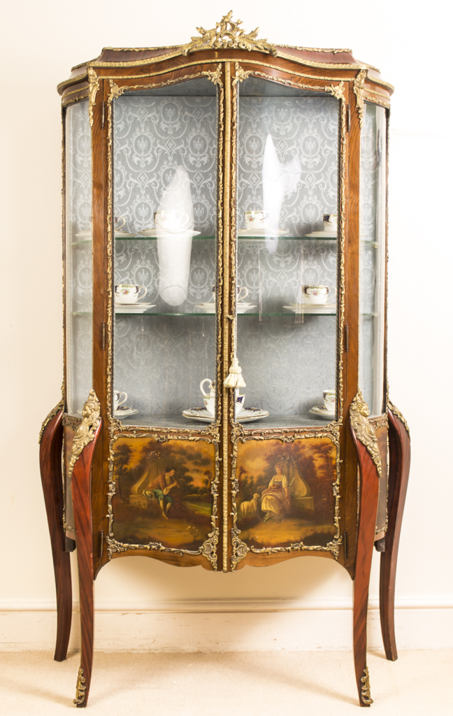 antique french vernis martin vitrine louis xv c1900. Black Bedroom Furniture Sets. Home Design Ideas