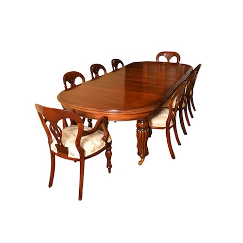Victorian style 8 ft dining room table 8 chairs for 8ft dining room table