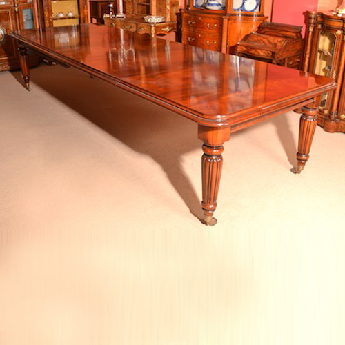 Vintage victorian dining conference table 12ft mahogany for 12 ft conference table