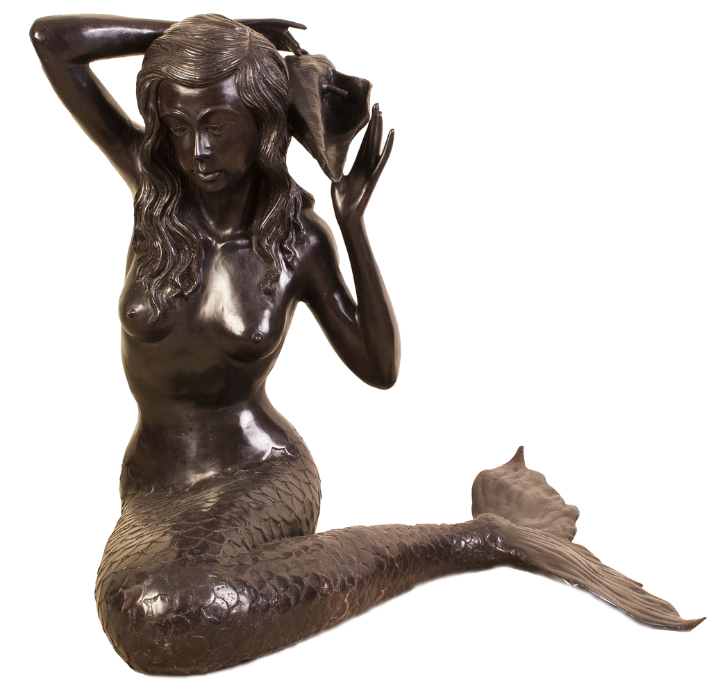Cast Products Siren : Regent antiques bronzes stunning bronze mermaid