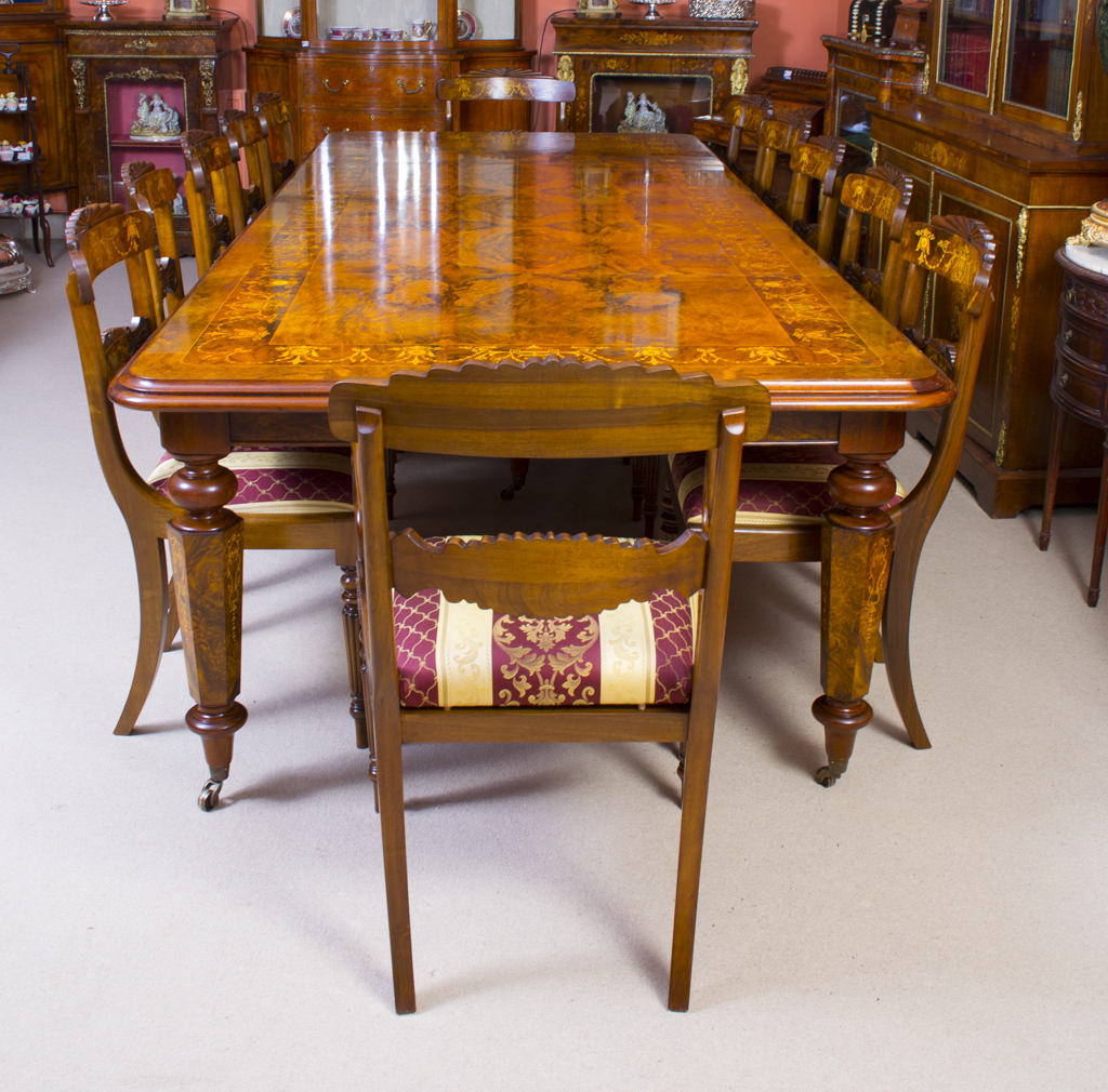 regent antiques dining tables and chairs table and chair sets 10 ft victorian marquetry. Black Bedroom Furniture Sets. Home Design Ideas