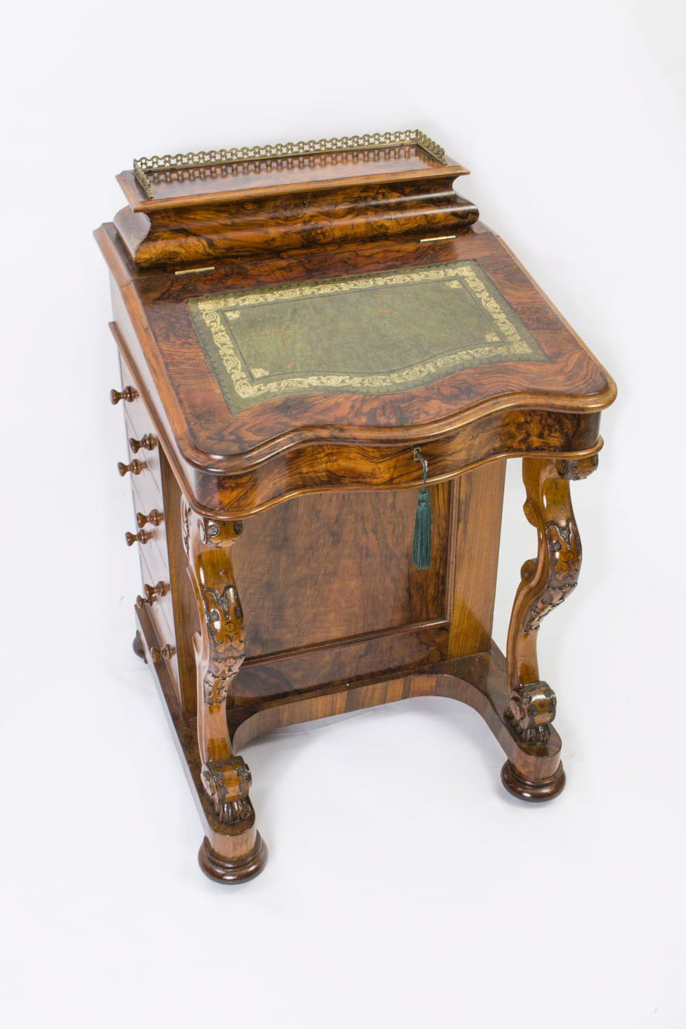 - Antique Victorian Burr Walnut Davenport Desk C.1870 Ref. No. 06208